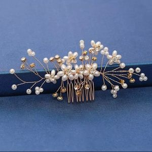 NEW - Gold and Pearl - Bridal Hair Piece